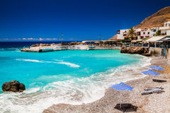 Beach at Chora Sfakion Royalty Free Stock Photos