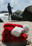 Beach Christmas Boxing day relaxation Stock Photos