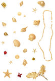 Beach Christmas trinkets royalty free stock image