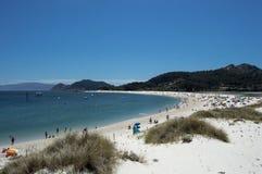 Beach Cies Islands. In Galicia Royalty Free Stock Photo