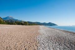 Beach at Cirali, Turkish Riviera, Turkey Royalty Free Stock Photos