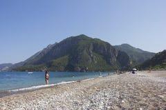 Beach at Cirali, the Turkish Riviera Stock Images