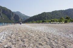 Beach at Cirali, the Turkish Riviera Royalty Free Stock Images