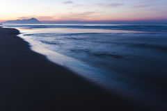 Beach of the Circeo in the province of Latina, Italy. Stock Photography