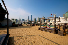 Beach in the city Stock Photography