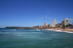 Beach and city. Durban city beach view, south africa stock photography