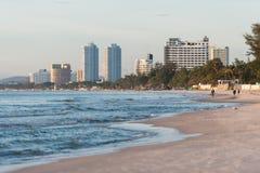 Beach city Stock Images