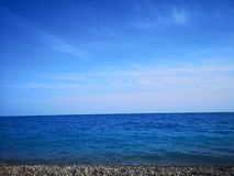 Turquoise sea beach in Nice, France, France royalty free stock photography