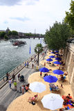 THE BEACH IN THE CITY AT PARIS, FRANCE Stock Photography