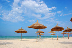 Beach in the city of Souss Royalty Free Stock Photography