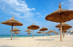 Beach in the city of Souss Stock Images