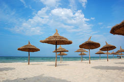 Beach in the city of Sousse Royalty Free Stock Image