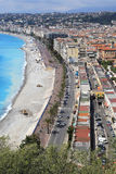 Beach and cityscape of Nice Royalty Free Stock Photography