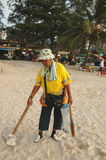 Beach cleaner Phuket Stock Photography