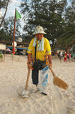 Beach cleaner Phuket Stock Photography