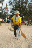 Beach cleaner Phuket Stock Image