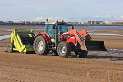 Beach cleaner tractor Stock Image
