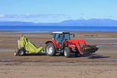Beach cleaner tractor Stock Photo