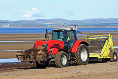 Beach cleaner tractor Royalty Free Stock Images