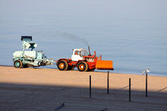 Beach cleaning Stock Images