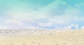 Beach with clear sky Royalty Free Stock Photos