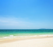 Blue sky and clear water Royalty Free Stock Photos