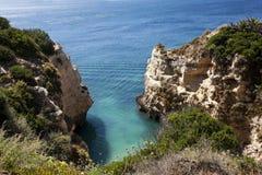 Beach cliff. In Algarve, Portugal Stock Photo