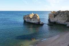 Beach cliff in Algarve. Portugal Royalty Free Stock Image