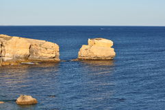 Beach cliff in Algarve. Portugal Stock Photos