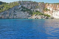 Beach cliff on the sea coast Stock Photo