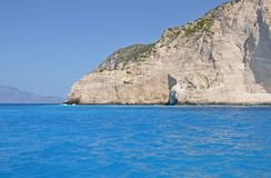 Beach cliff on the sea coast Royalty Free Stock Photography