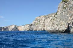 Beach cliff on the sea coast Stock Photography