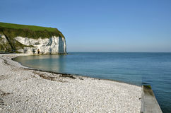 Beach and cliff of Yport in France Stock Images