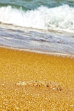 Beach and cliffs on the Atlantic coast near Cadiz, Stock Image
