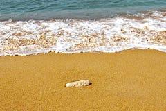 Beach and cliffs on the Atlantic coast near Cadiz, Royalty Free Stock Images