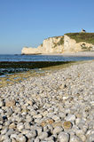 Beach and cliffs of Etretat in France Stock Photography