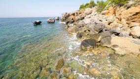 Beach and Cliffs stock video