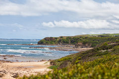 Beach cliffs at Kilcunda Stock Photos
