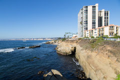 Beach Cliffs in La Jolla Stock Photography