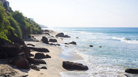 Beach with cliffs in Varkala Royalty Free Stock Photography