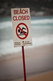 Beach closed Royalty Free Stock Photo