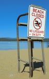 Beach closed Royalty Free Stock Photos