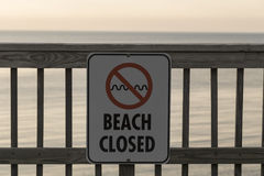 Beach Closed Royalty Free Stock Image
