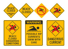 Beach Closed signs Royalty Free Stock Photo