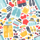 Beach clothes seamless pattern vector. Stock Photography