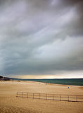 Beach Cloud Scape Stock Photography