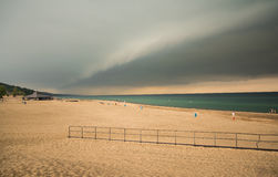Beach Cloud Scape Royalty Free Stock Photography