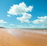 Beach and The Clouds Royalty Free Stock Photography