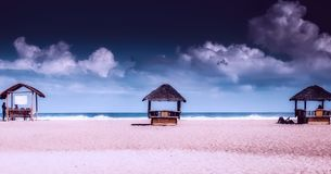 Beach, Clouds, Coast Stock Images