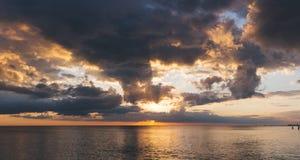 Beach, Clouds, Dawn Stock Photo